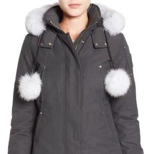 Moose Knuckles fox fur grey parka/ski coat NWOT